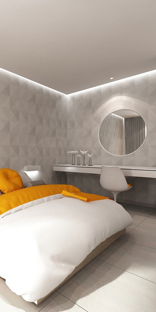 Renovation of rooms at an existing hotel in Rethymnon